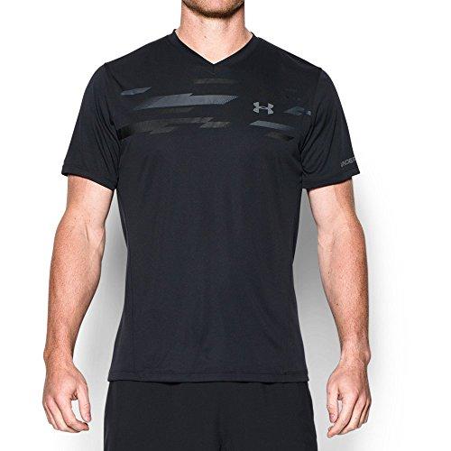 Graphite Training Top - Under Armour Men's Challenger Graphic Training Top, Black (002)/Graphite, Large