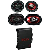 2) Boss CH6530 6.5 300W + 2) CH6930 6x9 400W 3-Way Speakers + R1004 400W Amp