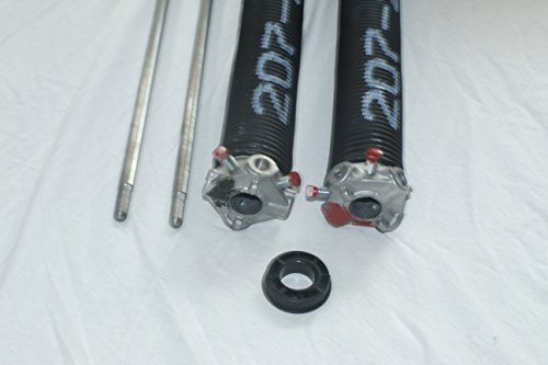 Pair of 207 X 1 3/4'' X 21'' - 33'' Garage Door Torsion Springs with Winding Bars (25'') by SS