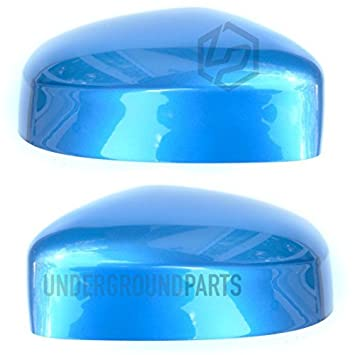 Underground Parts Left Passenger Nearside /& Right Offside Drivers Side Wing Mirror Caps Covers Painted Vision Blue