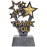 Decade Awards Thank You Trophy Gold Star Sponsor Award - Engraved Plate on Request Exclusive,Gold, silver,6 inch tall