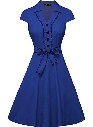 1950 button dress - 4