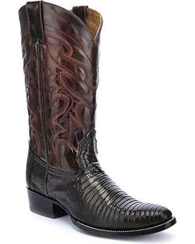 - Circle G Men's Teju Lizard Chocolate Cowboy Boot Round Toe Chocolate 9 D(M) US