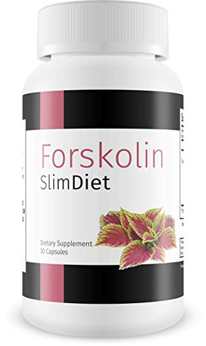 Forskolin Slim Diet- 30 Capsules, Forskolin Extract Supplement for Weight Loss Fuel, Coleus Forskohlii Root 20% Forskolin Diet Pills, Belly Buster Fat Burner