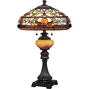 Quoizel TF1575TIB Tiffany Jewel with Imperial Bronze Finish Table Lamp