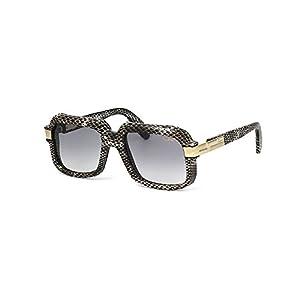 Cazal 607/3 Sunglasses 607 Leather Legend Gray Black (602) Authentic New