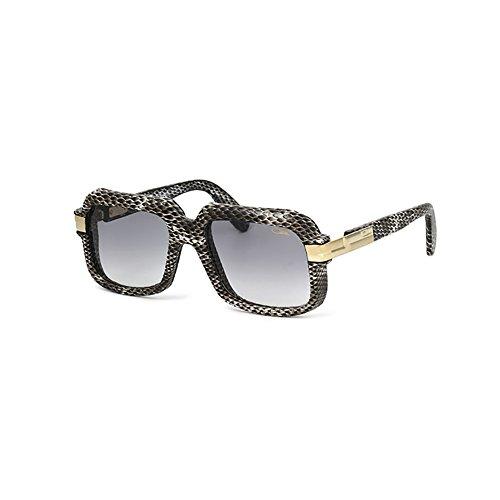 Cazal 607/3 Sunglasses 607 Leather Legend Gray Black (602) Authentic (Cazal Glasses)