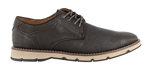 Hush Puppies Men's Titan Oxford, Dark Grey Leather, 10.5 M US