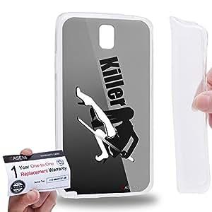 Case88 [Samsung Galaxy Note 3 Neo N750 N7505] Gel TPU Carcasa/Funda & Tarjeta de garantía - Art Design The Killer Personalities Black