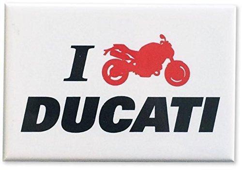 Ducati I Moto Ducati Magnet Sign White 987696715