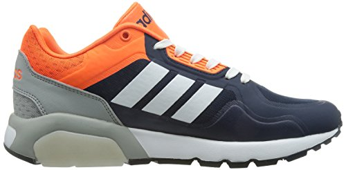 adidas Run9tis Tm, Zapatillas de Deporte Exterior para Hombre Azul Marino / Blanco / Naranja (Maruni / Ftwbla / Narsol)