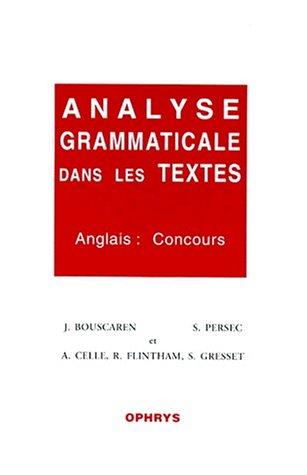 Télécharger Analyse Grammaticale Dans Les Textes Anglais Concours