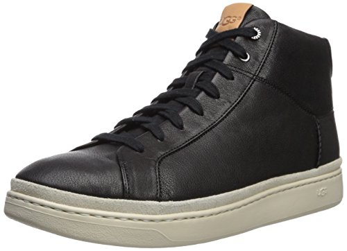 UGG Brecken Men's Cali Lace High Leather Sneaker, Black, 9.5 M US