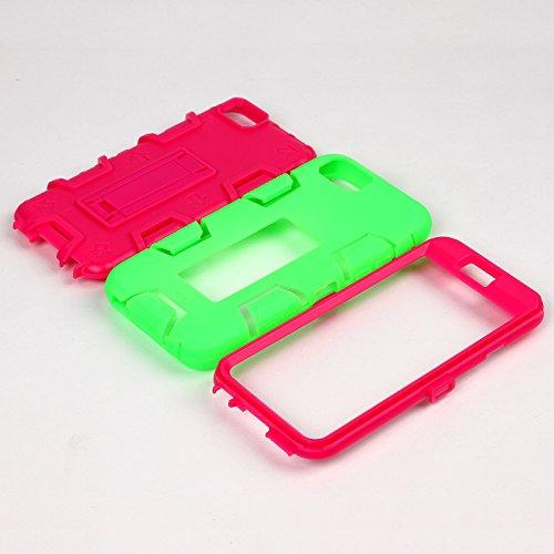 iPhone 6 6S Hülle , Heavy Duty Kickstand Grün PU Harte Rüstung Tasche Schutzhülle Shockproof Handyhülle Stoßdämpfende Schale Fall Case Shell Halter für Apple iPhone 6 6S