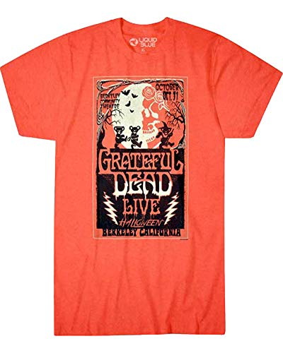 Grateful Dead Mens Berkeley California Halloween T-Shirt Orange (XL) -