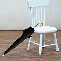 Mini Black Umbrella For 1:12 Miniature Dollhouse Room  FAST