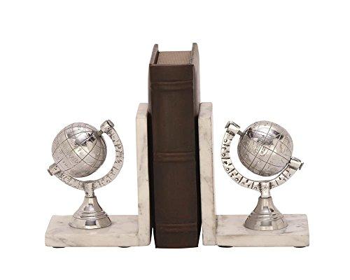 Deco 79 49659 Aluminum & Marble Bookend
