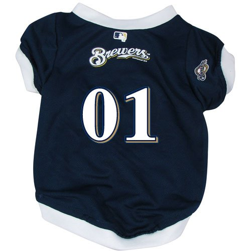 Hunter MFG Milwaukee Brewers Dog Jersey, - Brewers Jersey Dog Milwaukee