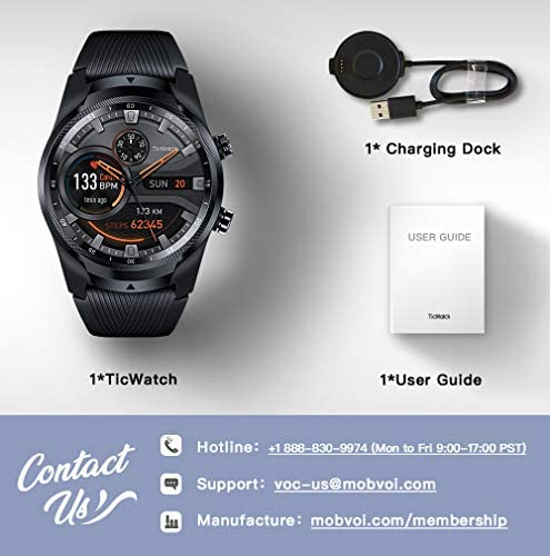 TicWatch Pro 4G LTE Cellular Smartwatch GPS NFC Wear OS by Google Android Health and Fitness Tracker with Calls Notifications Music Swim Sleep Tracking Heart Rate Monitor US Version 8
