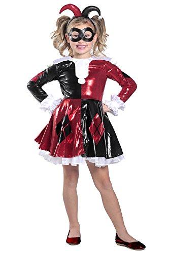Black Movie Characters Dress Up (Princess Paradise Harley Quinn Premium Child Dress Costume, Red/Black/White, Small)