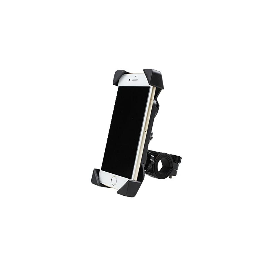 Dotesy Bike Motorcycle Cell Phone Holder,Mountain Road Bicycle Handlebar Cell Phone GPS Holder Mount with Slide Proof Clamp for Universal iOS Android Smartphones and Other Devices