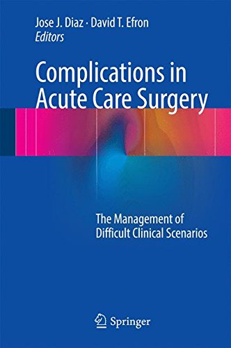 Complications in Intense Care Surgery: The Management of Difficult Clinical Scenarios