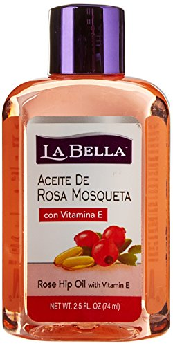La Bella Rosa Mosqueta Rose Hip Oil With Vitamin-E, 2.5 Ounce