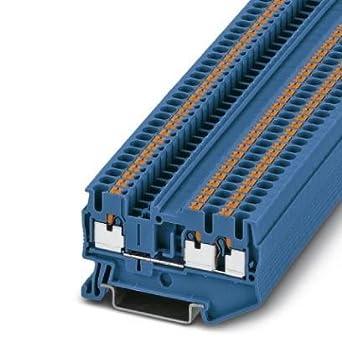DIN Rail Terminal Blocks PT 2 5-TWIN BU (1 piece): Amazon