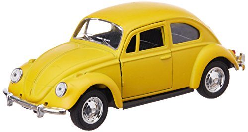 Toyhouse THTF815Y 1:32 Die Cast Pull Back Beetle Car for Children, Yellow
