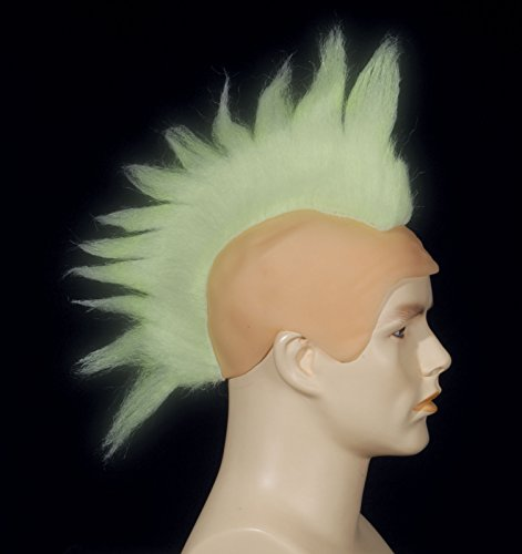 Loftus International Adult Star Power Glow in The Dark Punk Mohawk Wig, White, One Size -