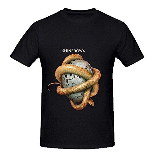 Shinedown Threat To Survival Hits Men Crew Neck Printed Tee Shirts Black