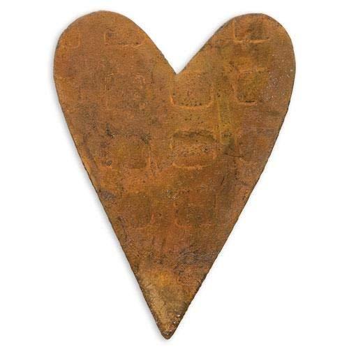Country Crafts Rusty Tin Folk Heart, 3/Pkg, 3