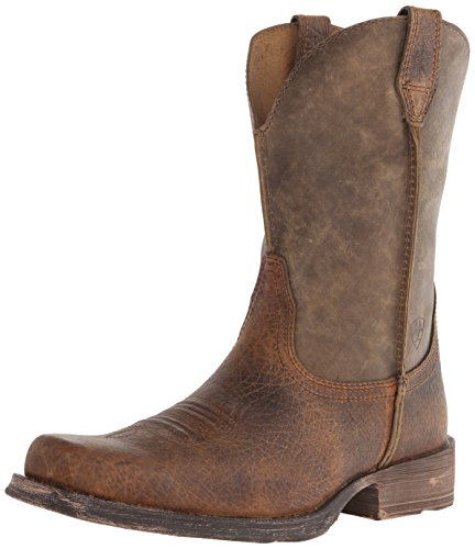 Ariat Men's Rambler Wide Square Toe Western Cowboy Boot, Earth/Brown Bomber, 10.5 EE US