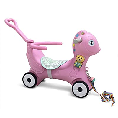 Baby Rocking Horse, Kids Ride-On Toys/Horse Rocking Chair/Indoor Outdoor Ride Animal/Rocker Toy/Horse Rocker for Boy&Girl Ages 1-6 Years (from US, Pink): Kitchen & Dining