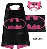 Superhero Cape with free Mask for kids - Party Costume (Bat Girl)
