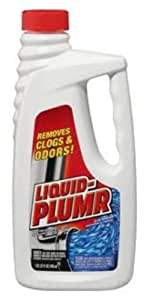 Liquid-Plumr 00242 Regular Clog Remover, 32 fl oz Bottle (Case of 9)