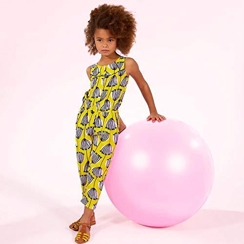 - Catimini Floral Print Viscose Jumpsuit Yellow