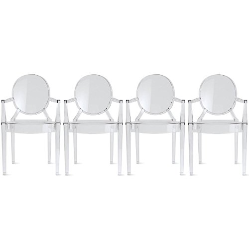 Designer-Modern-Clear-Louis-Ghost-Armchairs-Set-of-4