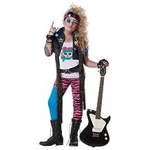 80'S Glam Rocker Child Costume, Size Large Plus