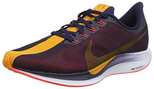 Nike Women's Zoom Pegasus 35 Turbo Running Shoes (9, Navy/Orange)