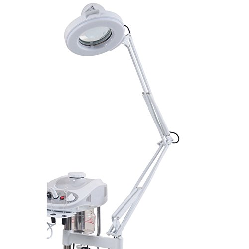 Beauty Style 3 in 1 Aromatherapy Facial Steamer Salon Spa Equipment 5X Magnifying Lamp & High Frequency Machine