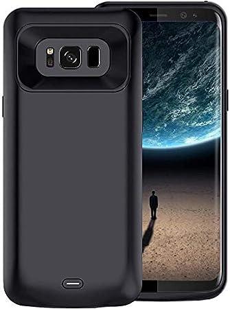 Becho - Funda para Samsung Galaxy S8, 5000 mAh Slim recargable batería extendida, funda protectora portátil batería Power Bank para Samsung Galaxy S8 (5.8 pulgadas)-negro: Amazon.es: Electrónica