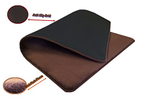 54''x37'' MicroFleece Plush Brown Luxurious Comfort Memory Foam