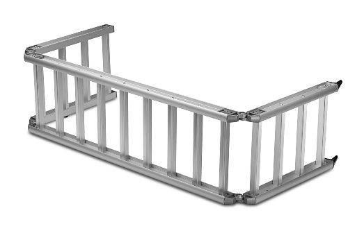Bed Extender Ramp (ReadyRamp I-Beam Full-Sized Bed Extender / Ramp Silver 100