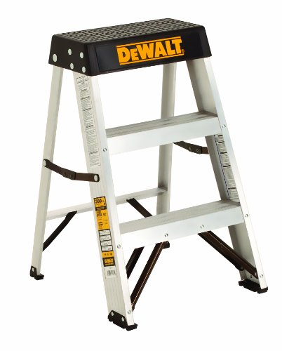DeWalt DXL2010-02 2-Feet Aluminum Stepladder Type IA with 300-Pound Duty Rating, 2-Feet