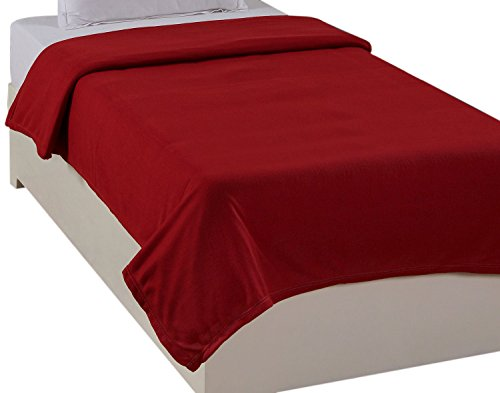 Warmland Polar Fleece Single Blanket – Red