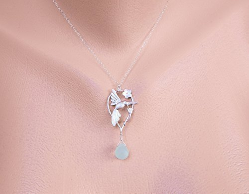 f822fbe50f1a8 Gift for Grandmother necklace, Hummingbird Birthstone Necklace Gift for  mother, Daughter for Mom, 14k Gold filled, Silver