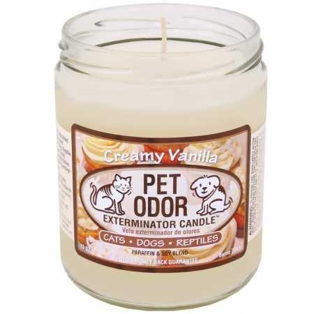(Pet Odor Exterminator Candle, Creamy Vanilla,13 oz)