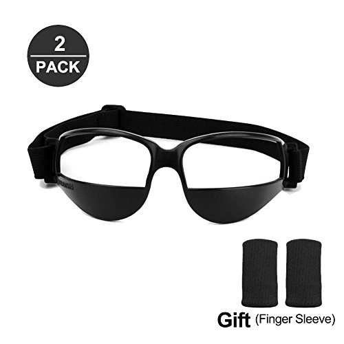 Ulover 2 Pairs Dribbling Goggles, Basketball Training Aid, Basketball Dribble Goggles - Improve Dribbling Skill- Perfect Ball-handling, Free Size for Adult and Youth