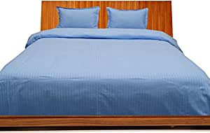 Brightlinen Light Blue Single (90 X 190 Cm) Duvet Set Fitted Sheet Stripe (pocket Size: 22 Cm) 4pcs